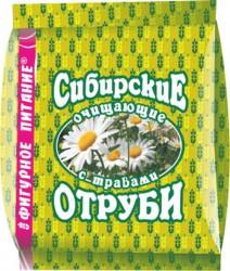 Отруби, 200 г Сибирские пшеничные очищающие с травами