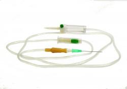 Система инфузионная для вливания жидких препаратов и растворов, р. 0.8ммх40мм 21G №1 арт. 534001 с пластиковой иглой