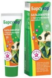 Бальзам-крем, Барсукор массажный для детей с барсучьим жиром 30 мл