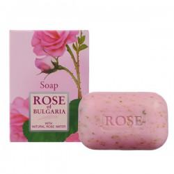 Мыло, Болгарская роза натуральное с частицами сухих лепестков роз 100 г