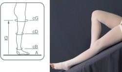 Чулки антиэмболические, Эргоформа р. 2 M арт. 227 компрессия 25 мм белые