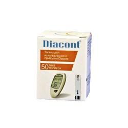 Тест-полоски, №50 к глюкометру Диаконт