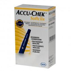Ручка + ланцет для прокола, Акку-чек №1+№25 софткликс