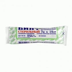Бинт стерильный, р. 7мx14см 32 г/м.кв.